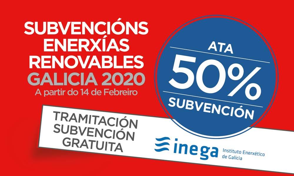 subvencións enerxías renovables galicia 2020