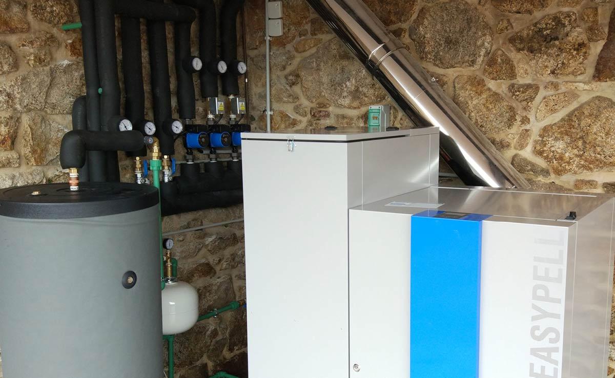 instalación calefacción con pellets